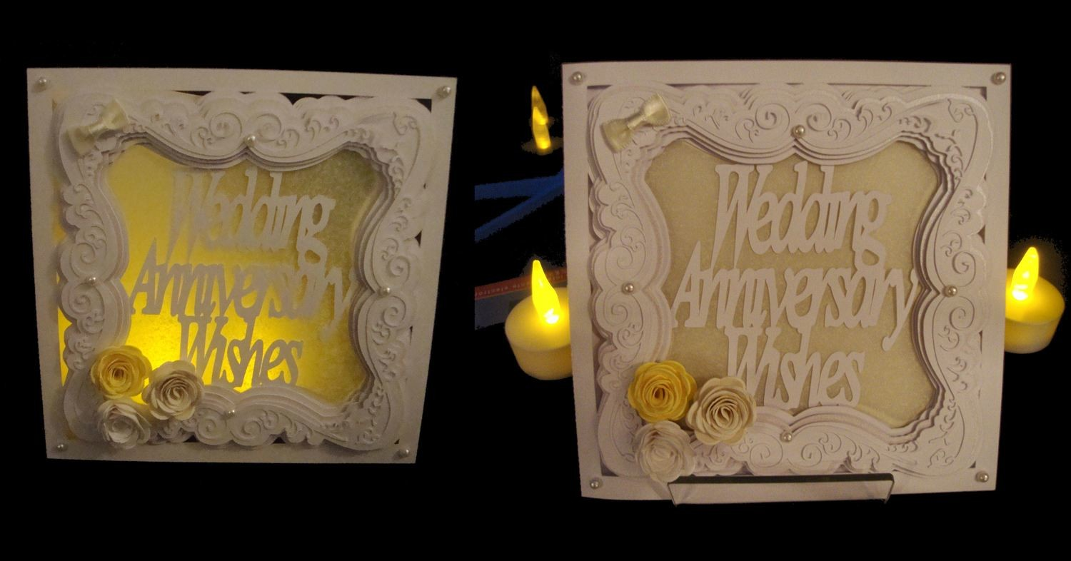 Faux Embossed Layered Wedding Anniversary Card