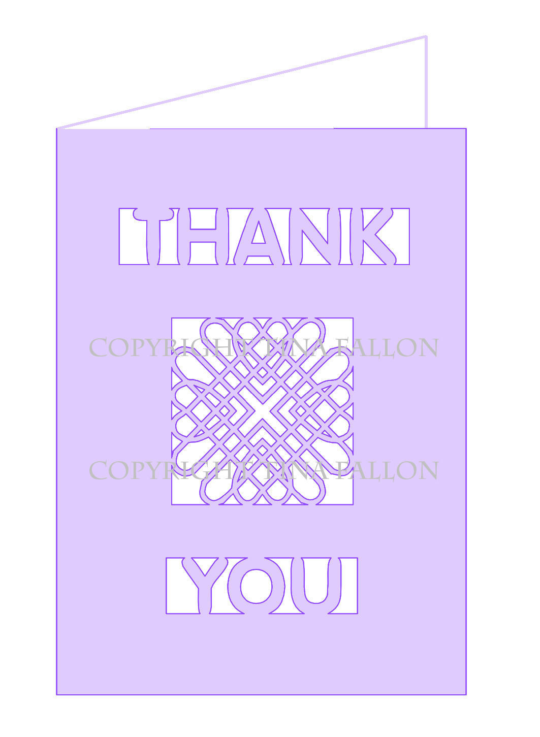 Entwined Hearts Thank You A6