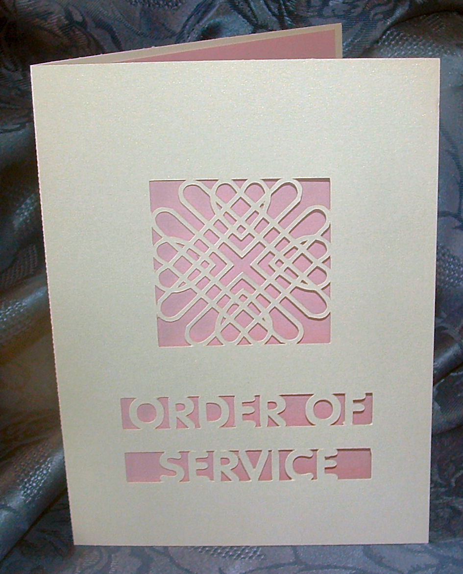 Entwined Hearts Card Order Of Service