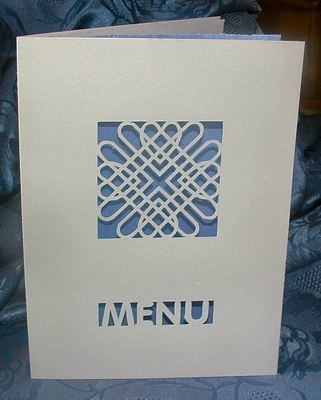Entwined Hearts Card Menu