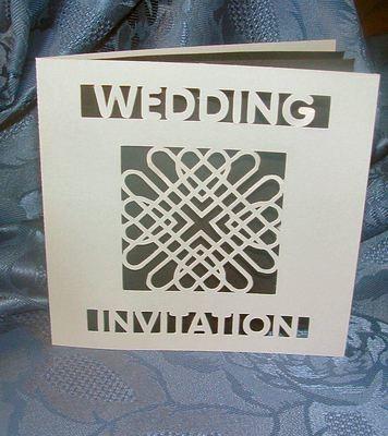 Entwined Hearts Card Invitation No 2