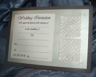 Entwined Hearts Card Invitation No 4 incudes optional wording template