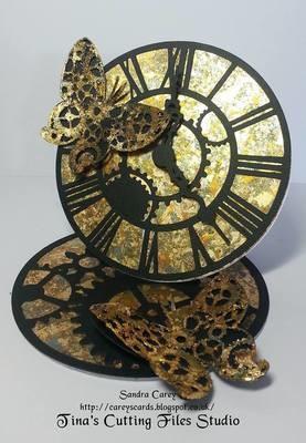 Steampunk Clock Easel card