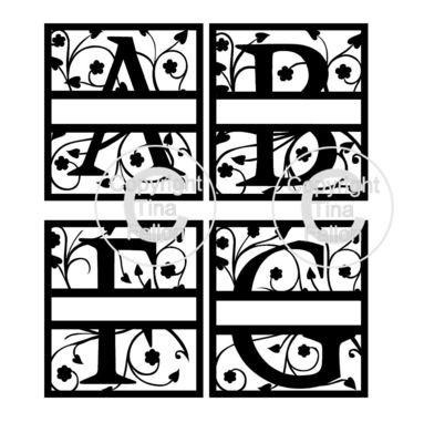 Full set of Framed Split A - Z Alphabet Alphas Set 4