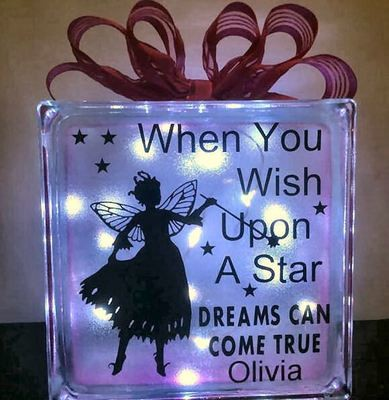 Fairy When You Wish Upon A Star - design for vinyl and glass blocks FCM