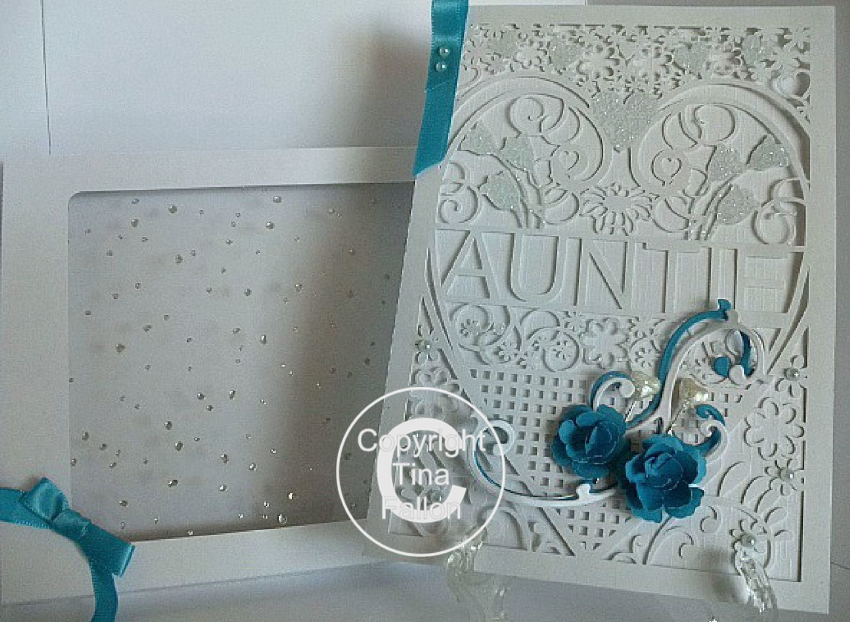 Auntie Aunty Birthday Card (with box)  beautiful cutout design