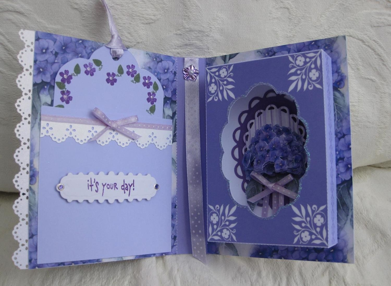 HYDRANGEA Combi Card/Gift Box  NO WORDS  PNC