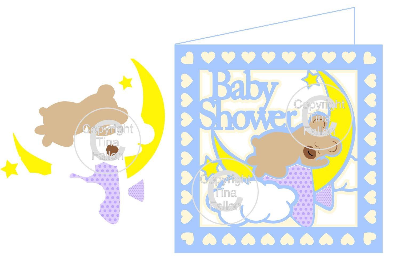 Baby Shower Bear Card   PLEASE READ INFO