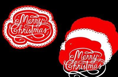 Merry Christmas Swirl Topper