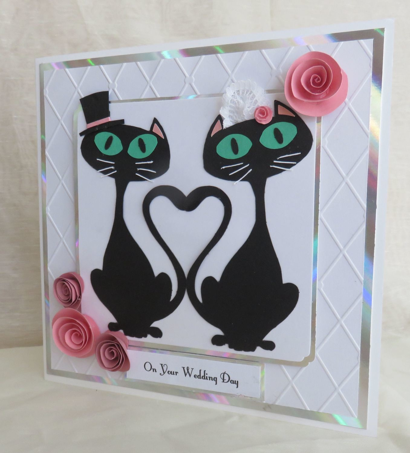 Cat paper piecing for card toppers.