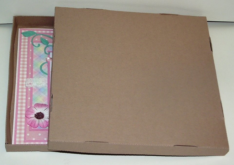 NO GLUE DOUBLE walled square box and lid
