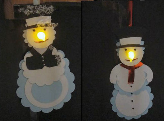 3 Snowman - LED Tealight decorations includes the heads and also BODIES