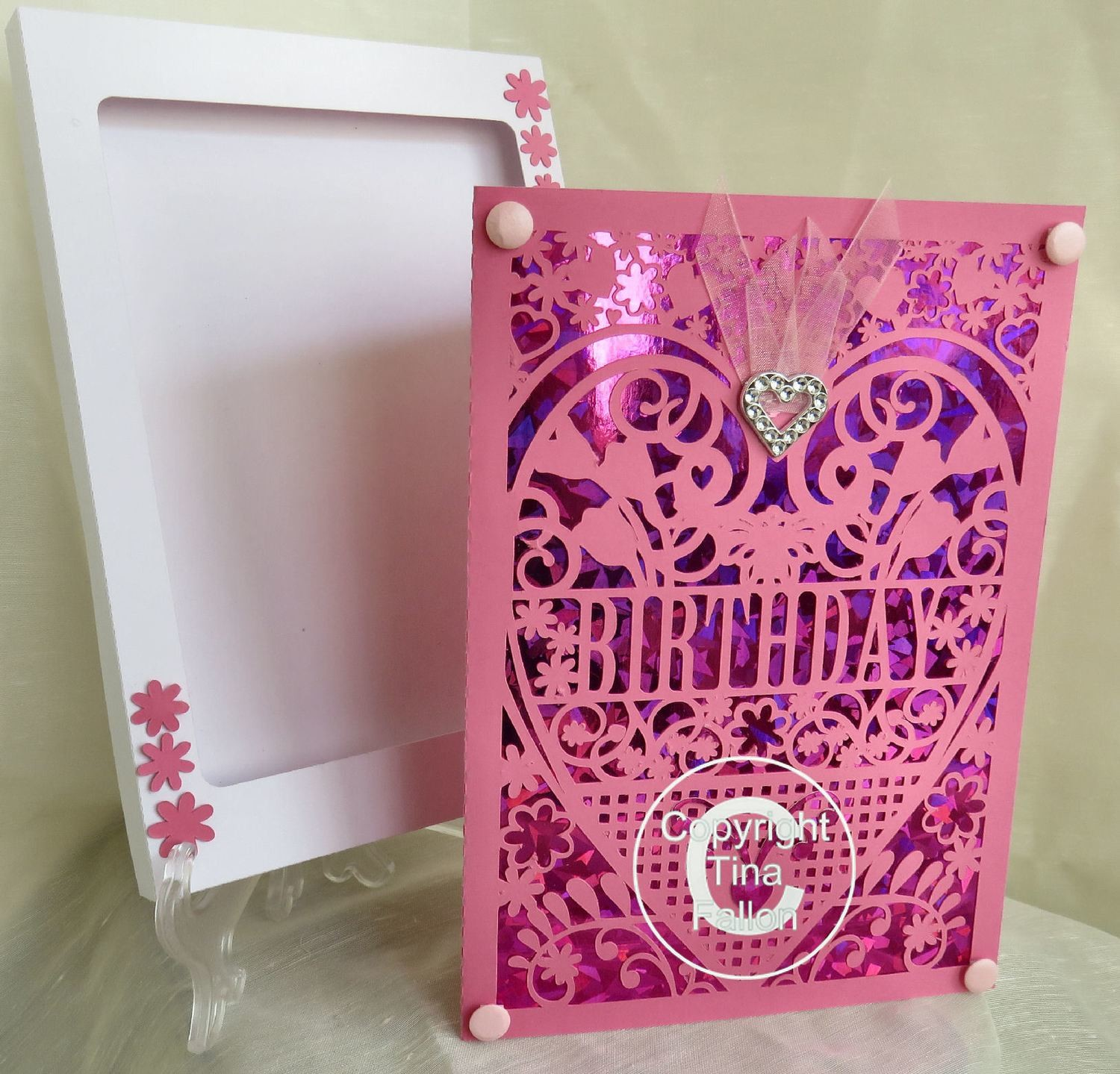 Birthday Card (with box)  beautiful cutout design