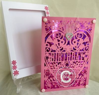 Birthday Card (with box)  beautiful cutout design