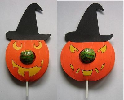 SET of 2  Halloween Pumpkin Chupa Chups Lolly holder studio files.