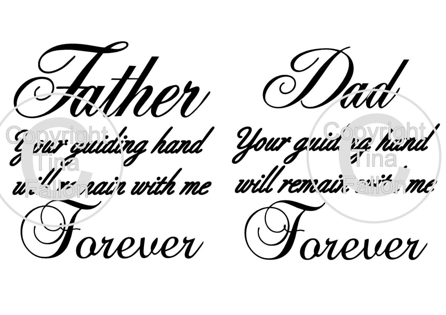 Dad your guiding hand quote - 2 cutting files