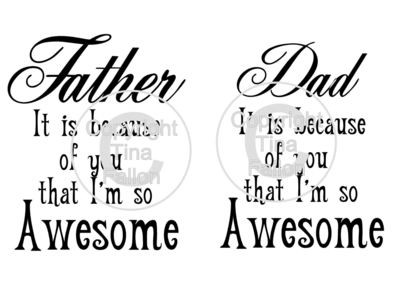 Dad So Awesome Quote - 2 cutting files