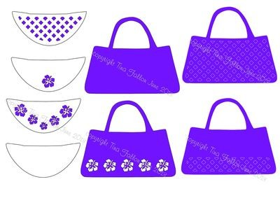 Handbags ** to match the design of my shoe cutting files **.