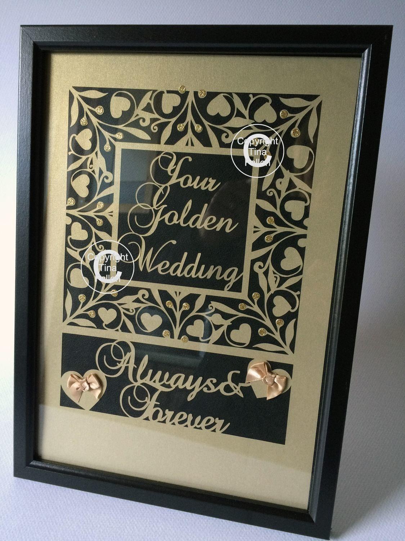 Golden Anniversary Keepsake A4