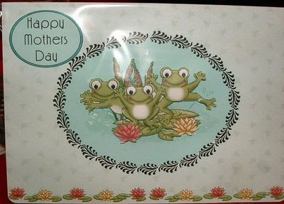 Mothers card Frog Cut n Print includes, card , 3d sheet and insert
