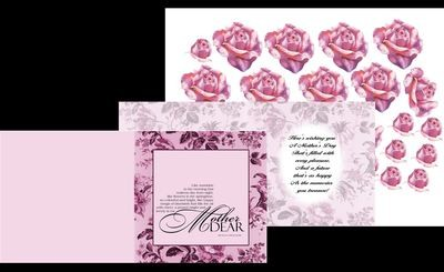 Mothers card no 14 Print n Cut includes card and insert