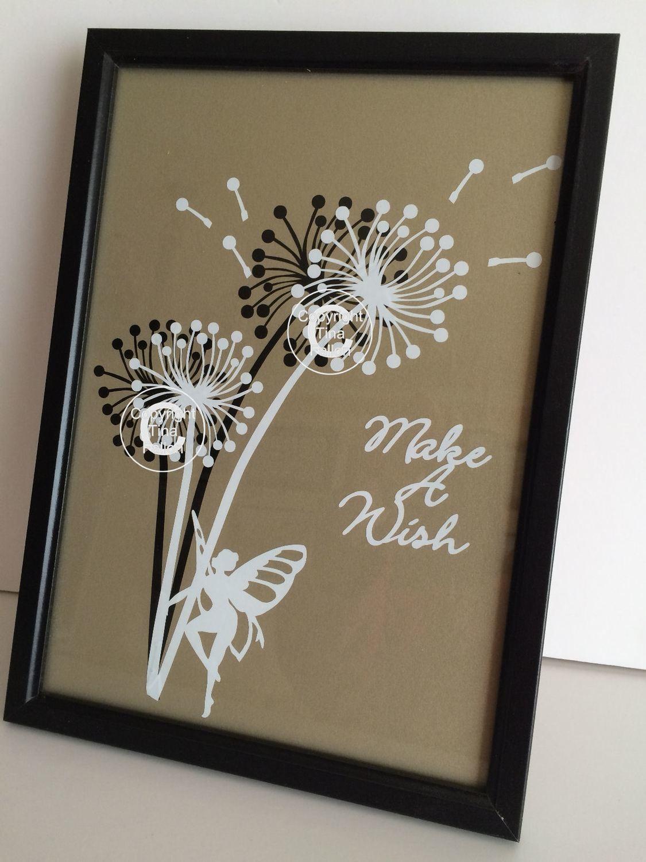 Dandelion Make A Wish 5  Word Art  FCM Scan n cut