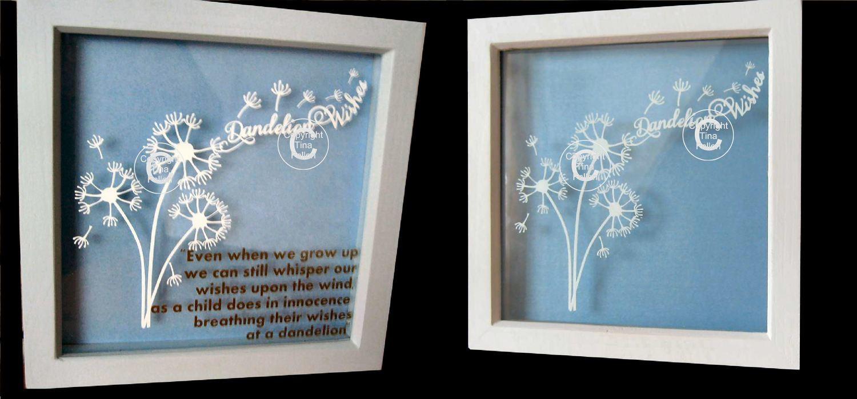 Dandelion Wishes  Word Art.  FCM Scan n cut