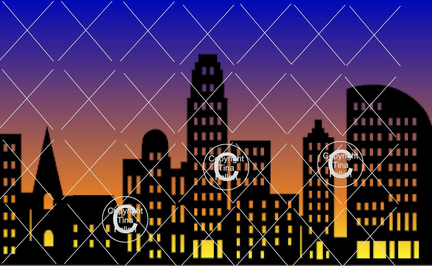 City Skyline - fcm scan n cut format