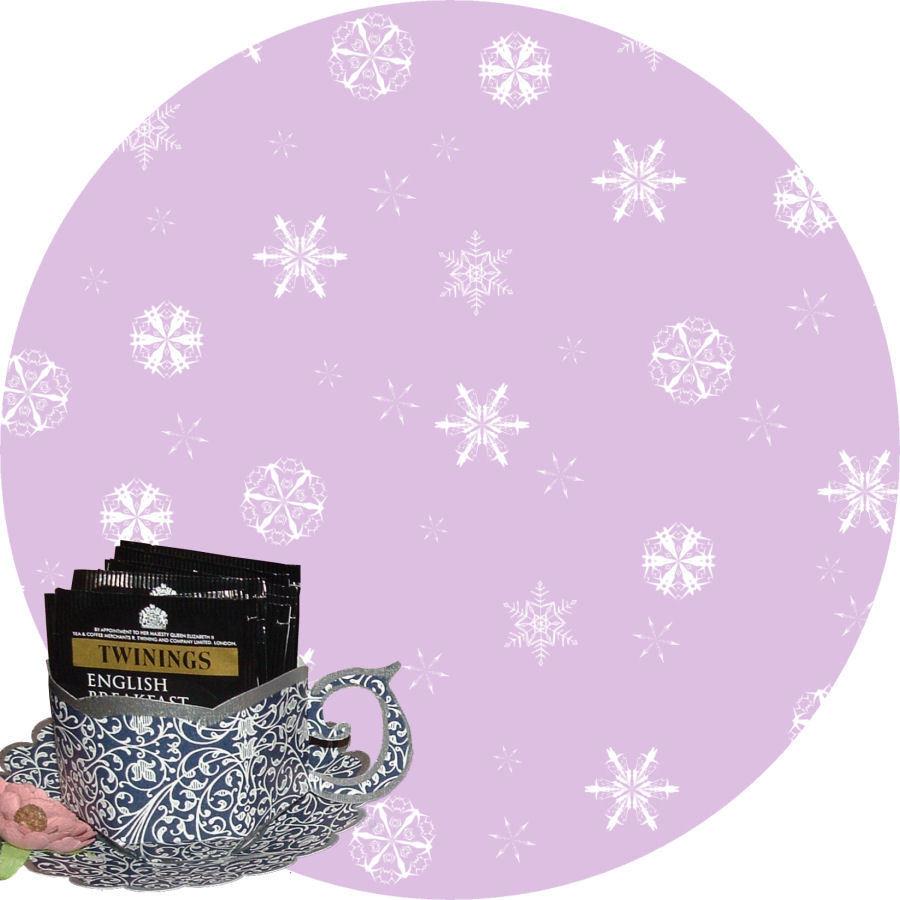 Christmas Snowflakes Cup and Saucer Set (lilac option)