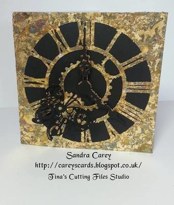 Steampunk Clock card