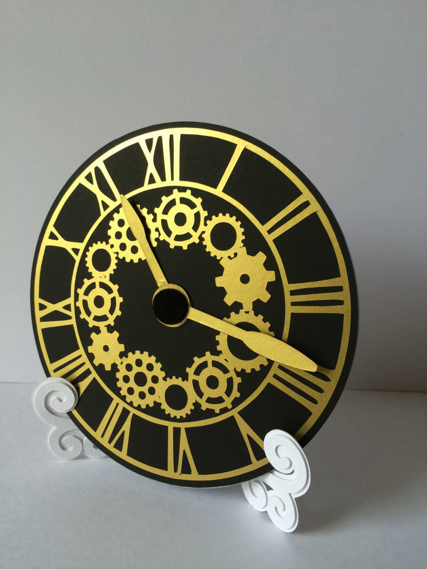 Steampunk Cogs Clock Face for CD's / 45's / LP's and 78's