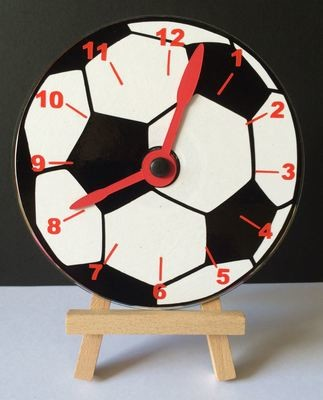 Football Clock Face for CD's / 45's / LP's and 78's