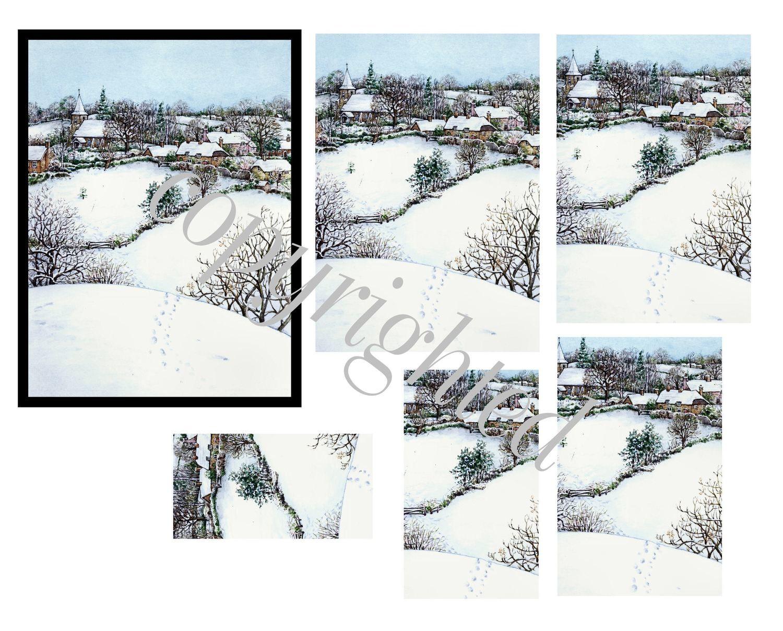 Winter Scene A4 Pyramid sheet print n cut