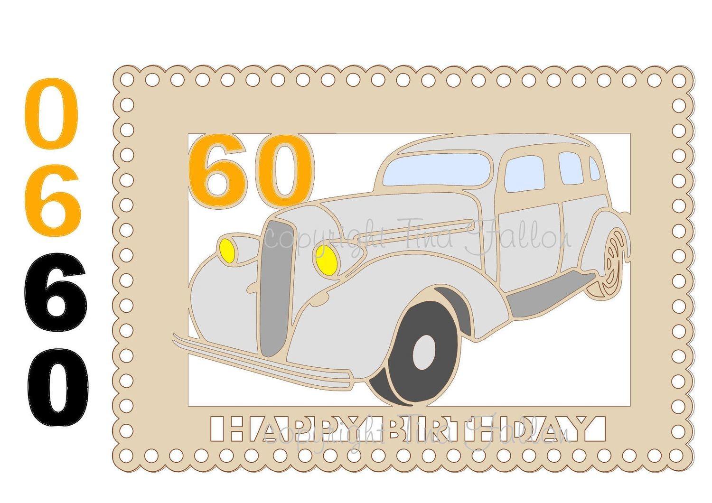 60th Car Card Topper