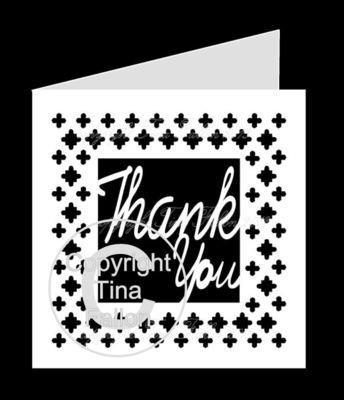 Thank You Card Template No3