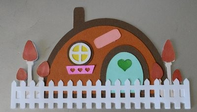 Fairy House. Shaped card base,