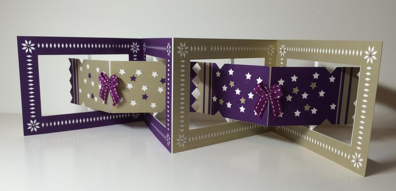 Accordian Card - Christmas Cracker  Studio file