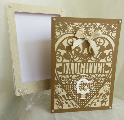 Daughter Birthday Card (with box)  beautiful cutout design