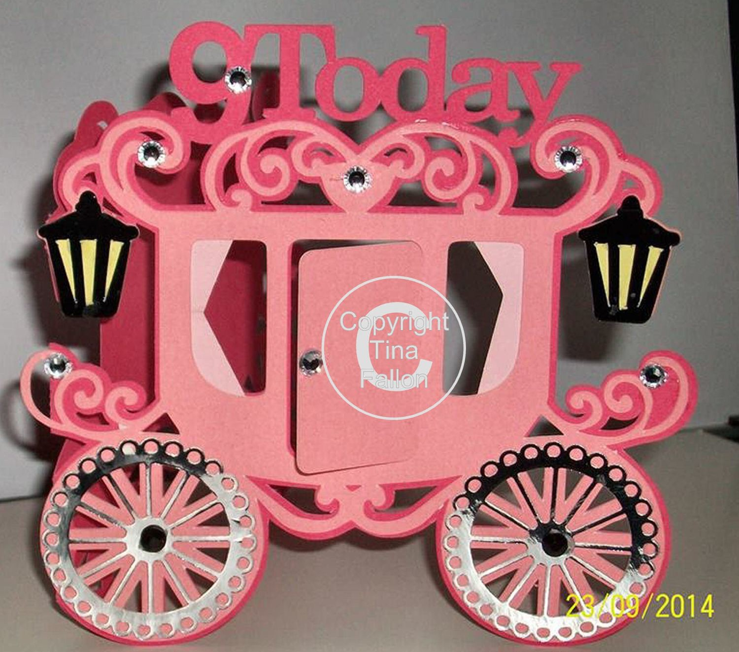 Princess Carriage 9 today Card Template