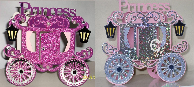 Princess Carriage Card Template