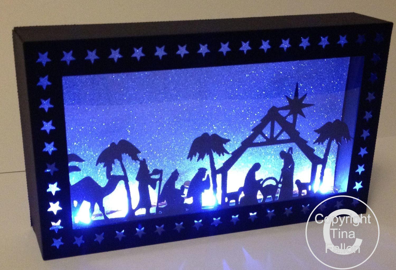 Nativity Christmas Scene In A Box