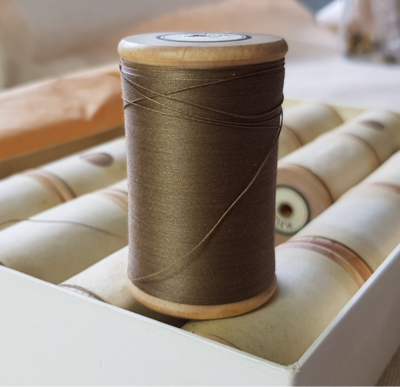 Khaki Thread on wooden spool