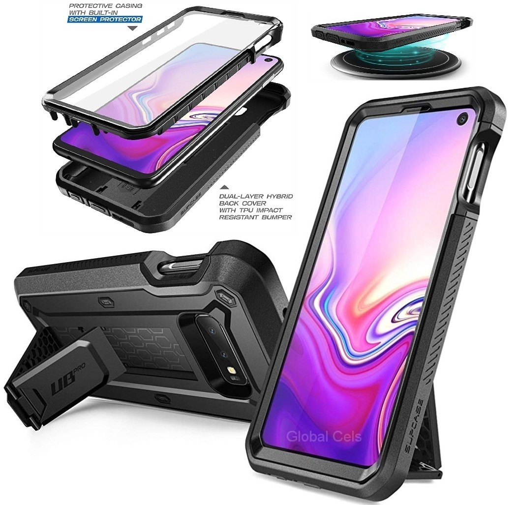 Case Galaxy S10E S10 Lite 5.8 2019 Carcasa 360 c/ Mica c/ Gancho Protector USA Negro