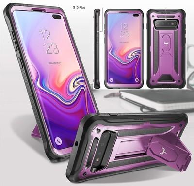 Case Samsung Galaxy S10 Plus 6,4 2019 c/Parador Funda 360 Morado Negro