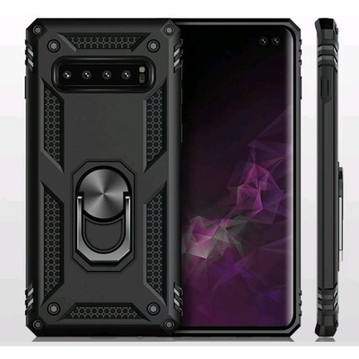 Case Galaxy S10 Plus SX Protector c/ Soporte Giratorio Anillo Metal