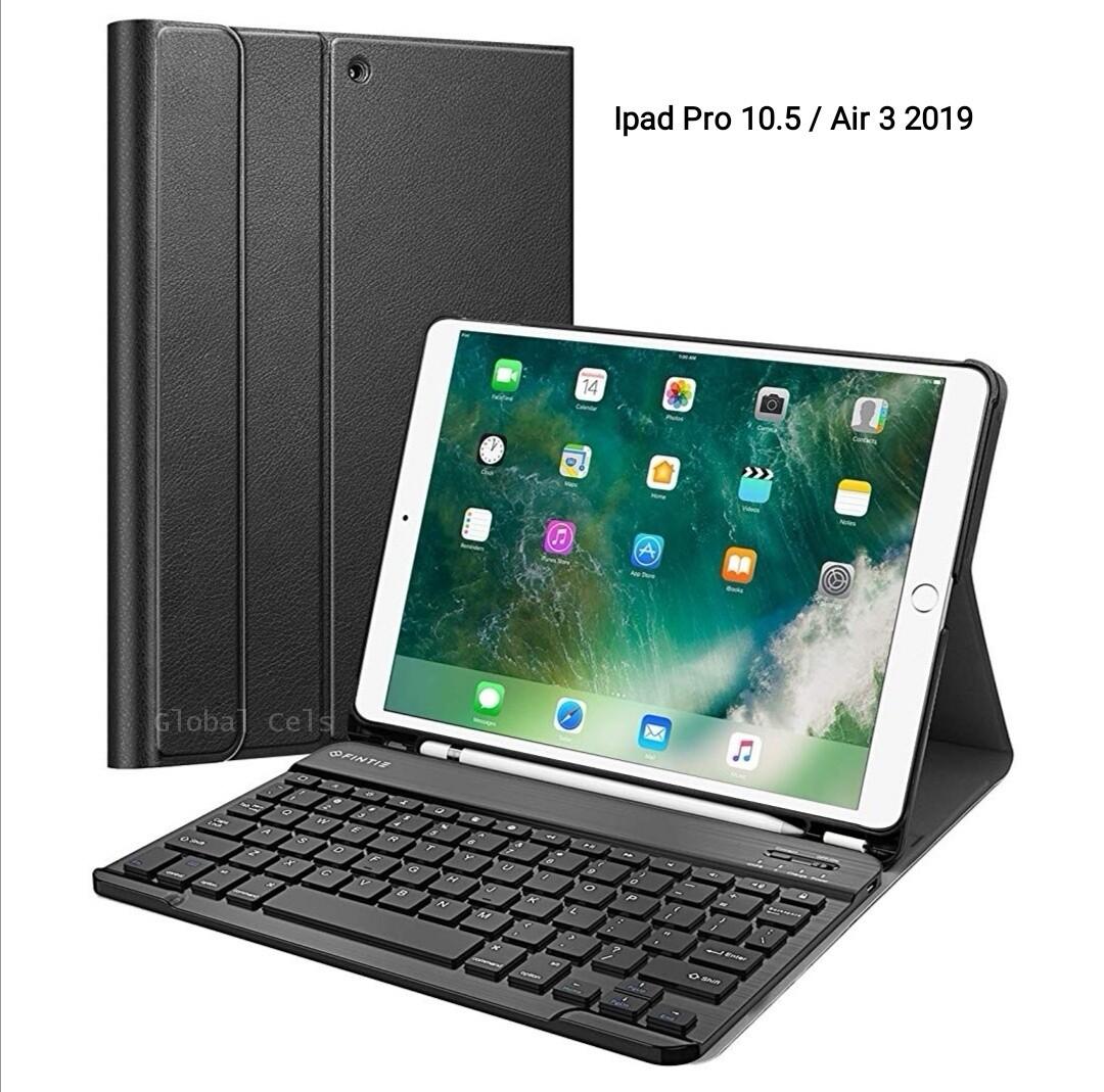 Case c/ Teclado Ipad Pro 10.5 2017 / Air 3ra Gen 2019 c/ Porta Lápiz Fintie USA Negro