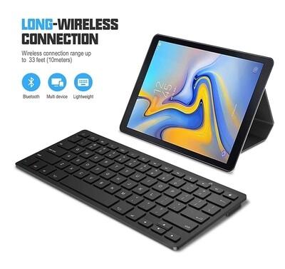 Mini teclado Bluetooth Sparin Samsung Galaxy Tab S3/S2 9.7/8.0 Tab E Tab A 9,7/8.0 Tab 4 10.1/8.0/7.0 Tab S 10.5/8.4 Negro