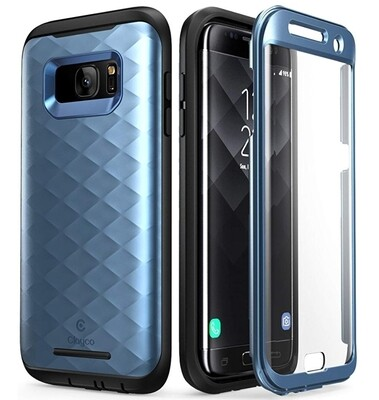 Case Galaxy S7 Edge Clayco USA Azul Frost de 3 partes