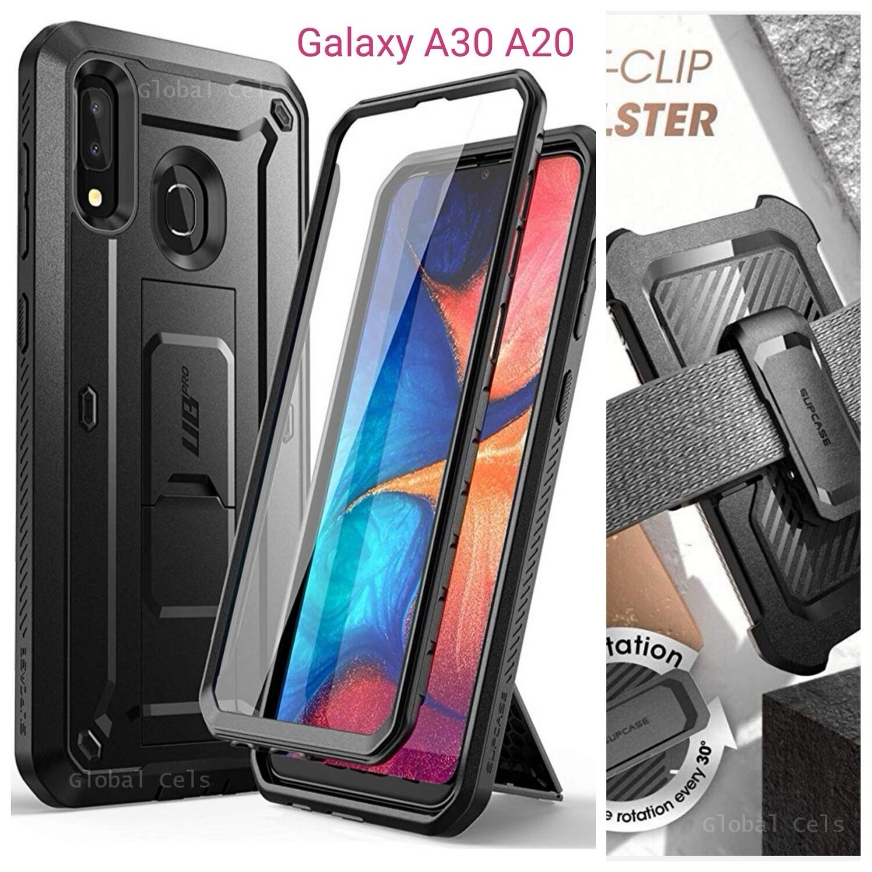 Case Samsung Galaxy A20 A30 Supcase PRO c/ Tapa Gancho c/ Mica Integrada