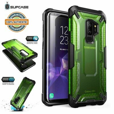 Case Galaxy S9 Plus S9+ Frost Antigolpes USA VERDE Transparente